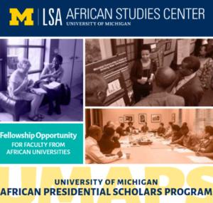 2019 University of Michigan African Presidential Scholars Program