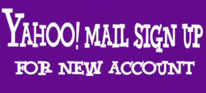 Yahoomail Account Sign up