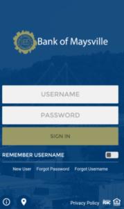Bank of Maysville Online Banking Login