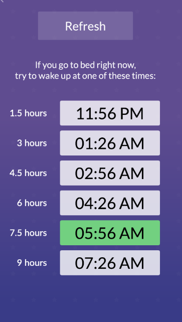Sleep-Calculator