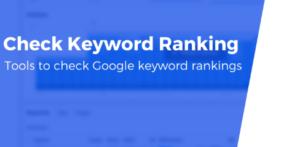 Check Google Keyword Rankings