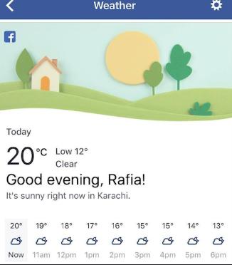 Facebook-Weather-App