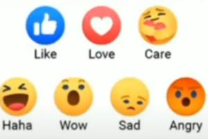 Facebook Care Reaction